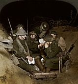 Reserve trenches at Beaumont Hamel, France, World War I