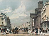 Regent Street looking towards the Quadrant, 1842