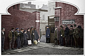 Waiting for admission to St Marylebone Workhouse, c1901