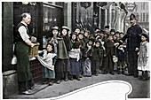 Waiting for parcels of food, Cheapside, c1903 (1903)