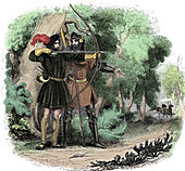 Robin Hood, English folk hero and outlaw