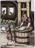Paper maker, 16th century, (1849)