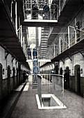Prisoners going to dinner, Wormwood Scrubs Prison, c1903