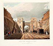 Moorish Arch, looking from the Tunnel, 1831