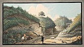 Road leading from the Grotto of Pausilipo to Pianura, 1776