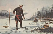 Trout Fishing on Chateaugay Lake, 1856