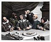 Columbus breaking the egg, 1753, (1833)