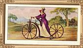 'Lady's Pedestrian Hobby-Horse', 1819, (1939)