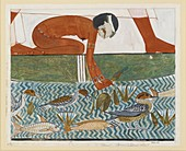 Copy of wall painting from private tomb 69 of Menna, Thebes