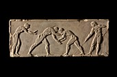 Part of ball-player base of Endoios From Athens, c 510 BC