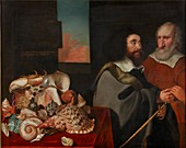 John Tradescant the Younger with Roger Friend, 1645