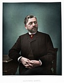Gustave Eiffel, French engineer, 1880