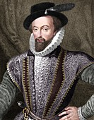 Sir Walter Raleigh, English writer, adventurer and explorer