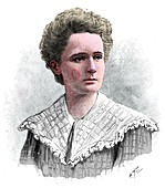 Marie Sklodowska Curie, Polish-born French physicist, 1904