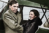 Amy Johnson, British aviator, 1932