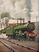 A Heavy Express Train Leaving Kings Cross, 1926