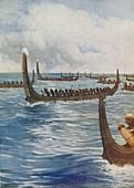 Polynesian War Canoes, 1924