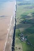 Coastal erosion of Aldbrough Cliffs, Yorkshire, UK