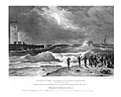 View of the Storm at Scarborough on the 17th February 1836
