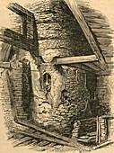 Part of Old London Wall near Falcon Square, 1870 illustratio