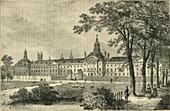 Old Bethlehem Hospital, Moorfields about 1750, c1872