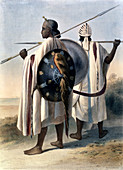 Abyssinian warriors, 1848
