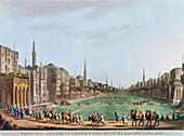Principal Square in grand Cairo, Egypt, 1802