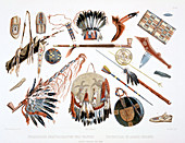 Indian Utensils and Arms, 1843