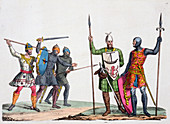 Anglo-Saxon warriors, 19th century