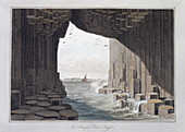 In Fingal's Cave, Staffa, Scotland, 1829