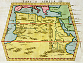 Map of North Africa, c1580s