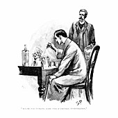 Holmes was working Hard over a Chemical Investigation, 1893