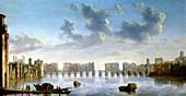 Old London Bridge, c1630