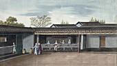 Drying tea leaves, China, 19th century