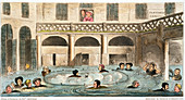 Public Bathing at Bath, or Stewing Alive, 1825