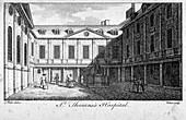 Middle court of St Thomas's Hospital, London, c1750
