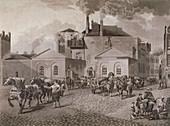 Meux's Brewery, Tottenham Court Road, London, c1830