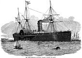 United States mail steam ship entering the Mersey, 1850