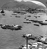 Looking north over vessels, port of Nagasaki, Japan, 1904