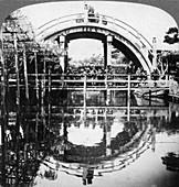A semi-circular bridge in Japan, 1896