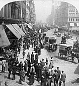 A street scene in Chicago, Illinois, USA, 1896