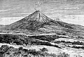 Cotopaxi volcano, Ecuador, 1895