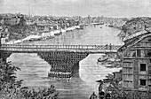 The Srinagar Bridge over the river Jhelum, Pakistan, 1895