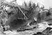 Ottawa river, Ontario, Canada, 1842
