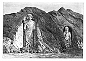 Colossal Idols, Upper Bamlan Valley, Afghanistan, 1895