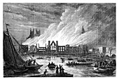 The Burning of the Houses of Parliament, London, 1834