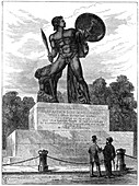 The statue of Achilles, London, 1891