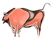 Cave painting of a bison from the Altamira cave, Spain