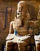 Statue of Rameses II at Abu Simbel, Egypt, 1933-1934
