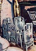 Alabaster vases, Tutankhamun's tomb, Egypt, 1933-1934